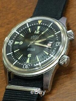 RARE Vintage DROZ Super Compressor 42 Men's Wrist Watch 17 J Incabloc- 6152 922