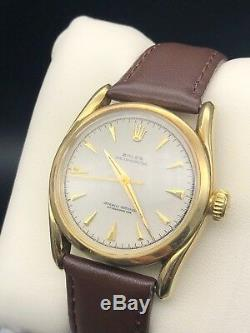 RARE Vintage Rolex Oyster Perpetual 1950s 14k 6092 Mens Watch (Super Oyster)
