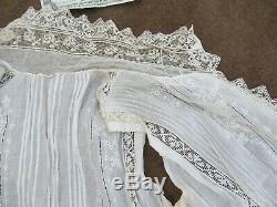 REALLY RARE Antique Lady's Fancy Lace Victorian Cape Blouse, Vest, c. 1880, GIFT