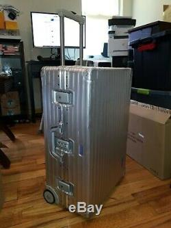 RIMOWA Vintage Super Rare Aluminum Silver Luggage. MADE IN GERMANY Collectable