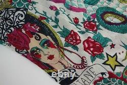 Rare Christian Dior by John Galliano 2004 Tattoo Print Top Vintage J'adore Logo