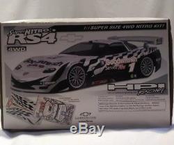 Rare Hpi Super Nitro Rs4 Corvette Vintage 1999