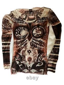 Rare Jean Paul Gaultier Soleil Vintage Mesh Top Longsleeve