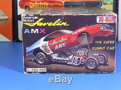 Rare Jo-han #c-205200 Amc Javelin Amx Super Funny Car Unbuilt Complete