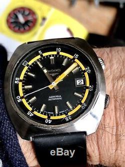 Rare Longines diver Admiral 8221 43mm Vintage With Super Compressor Back
