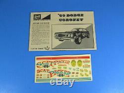 Rare Mpc# 1769-200 1969 Dodge Coronet R/t Super Bee Hardtop With Trailer Nice