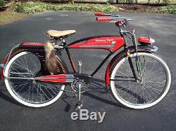 Rare Vintage 1950's WESTERN FLYER X-53 Super Tank Bicycle