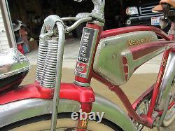 Rare Vintage 1956 WESTERN FLYER X-53 Super Tank Bicycle All Original Attic Find