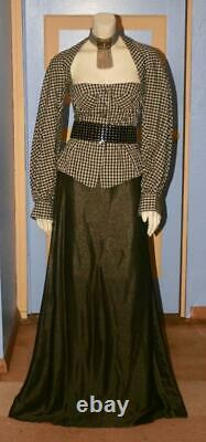 Rare Vintage 1990's Byron Lars New York Romantic Gingham Blouse / Top Size 4