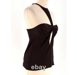 Rare Vintage Gucci x Tom Ford Fall 2004 Brown Stretch T-Bar Halter Top (Size M)
