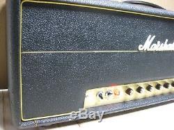 Rare Vintage JMP MARSHALL HEAD 1971 Super Lead 100W Great condition