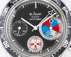 Rare Vintage Lejour Le Jour Super Yachtingraf Chronograph Valjoux 7736