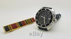 Rare Vintage S. Steel Eterna-Matic Super Kontiki IDF Military Diver's Watch