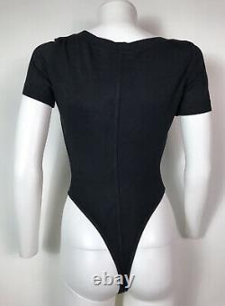Rare Vtg Alaia 90s Black Bodysuit XS