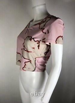 Rare Vtg Chanel Pink Nylon Crop Top Sz L