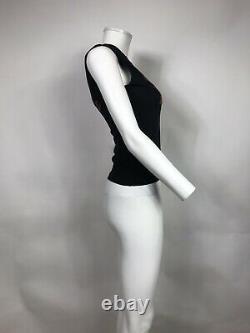 Rare Vtg Christian Dior By John Galliano Black J'adore Tank Top S