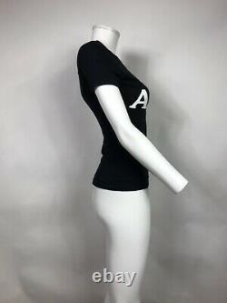 Rare Vtg Christian Dior By John Galliano Black'addict' T Shirt Xs