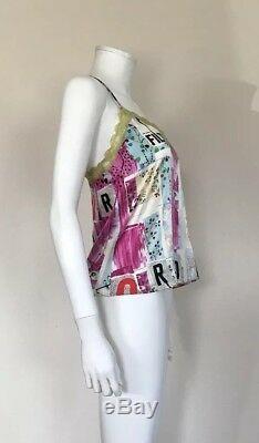 Rare Vtg Christian Dior Silk Blend Filth Top M