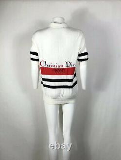 Rare Vtg Christian Dior Sports Embroidered Logo Polo Shirt L