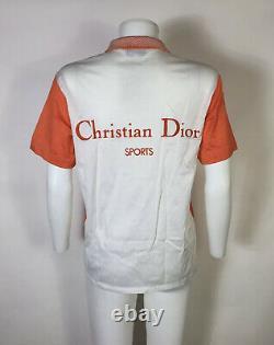 Rare Vtg Christian Dior Sports Orange Polo Top M