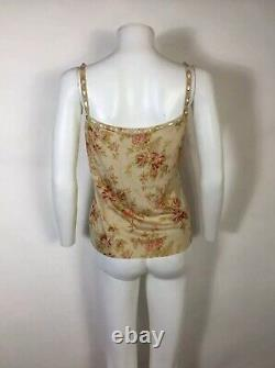 Rare Vtg Christian Dior by John Galliano AW2010 Beige Floral Knit Top M