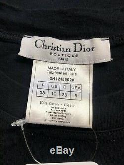 Rare Vtg Christian Dior by John Galliano Black'ADDICT' Tee S