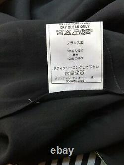 Rare Vtg Christian Dior by John Galliano Black Dior Dolls Sleeveless Silk Top M