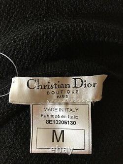 Rare Vtg Christian Dior by John Galliano Black Sheer Cami Top SS1998 M