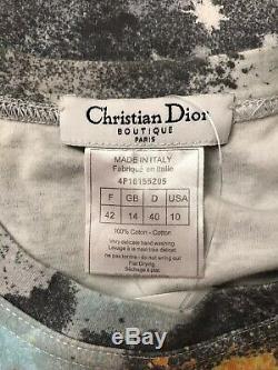 Rare Vtg Christian Dior by John Galliano Graffiti Logo Top M