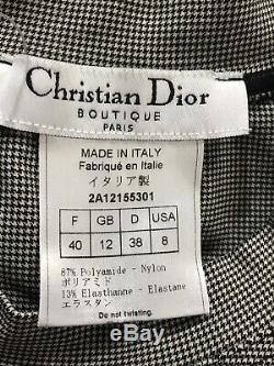 Rare Vtg Christian Dior by John Galliano Houndstooth J'adore Tank Top S