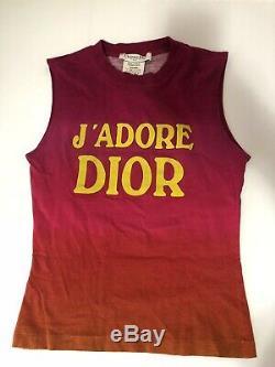 Rare Vtg Christian Dior by John Galliano J'adore Ombre Tank Top S/M