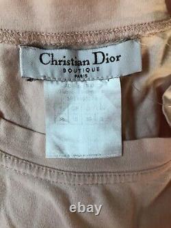 Rare Vtg Christian Dior by John Galliano Peach Logo T Shirt S
