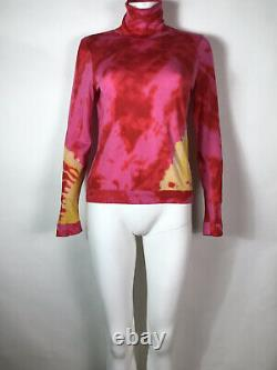 Rare Vtg Christian Dior by John Galliano Pink Tie Dye Knit Top S AW2003