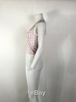 Rare Vtg Christian Dior by John Galliano Pink Viscose Top M