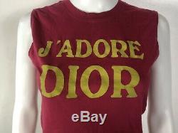 Rare Vtg Christian Dior by John Galliano Raspberry Pink J'adore Tank Top S