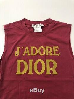 Rare Vtg Christian Dior by John Galliano Tank Top S