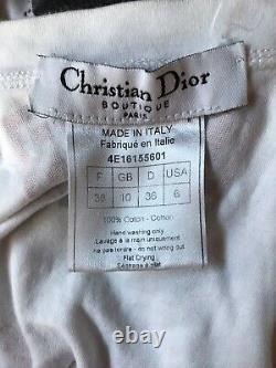 Rare Vtg Christian Dior by John Galliano White Hardcore Chain Top S