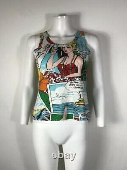 Rare Vtg Dolce & Gabbana Comic Book Tank Top S