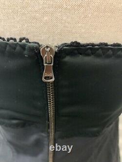 Rare Vtg Dolce & Gabbana Corset Bustier Black/silver Animal Print Top 30/44 EUC