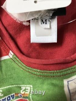 Rare Vtg Dolce & Gabbana D&G Green Detergent Print Top M