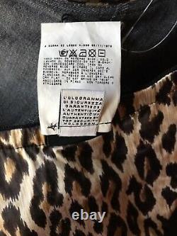 Rare Vtg Dolce & Gabbana D&G Leopard Print Crop Corset Bustier Top XS