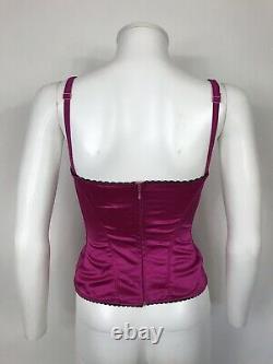Rare Vtg Dolce & Gabbana D&G Pink Corset Top XS