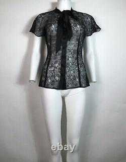 Rare Vtg Dolce & Gabbana D&G Sheer Lace Top S