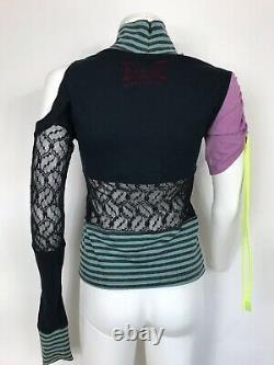 Rare Vtg Dolce & Gabbana D&g Asymmetrical Open Knit Patchwork Top S