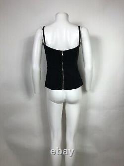 Rare Vtg Dolce & Gabbana D&g Black Sheer Corset Top S