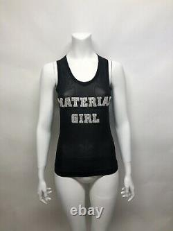 Rare Vtg Dolce & Gabbana Early 00s Crystal Material Girl Tank Top S