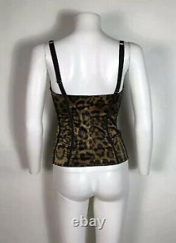Rare Vtg Dolce & Gabbana Leopard Print Corset S