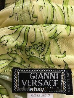 Rare Vtg Gianni Versace Green Baroque Top XS