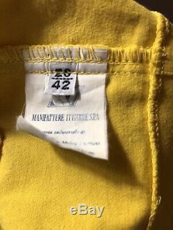 Rare Vtg Gianni Versace Jeans Yellow Bondage Bustier Top S