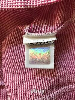 Rare Vtg Gianni Versace Pink Medusa Zip Crop Top